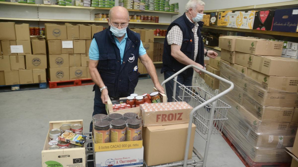 Imagen de archivo del banco de alimentos.