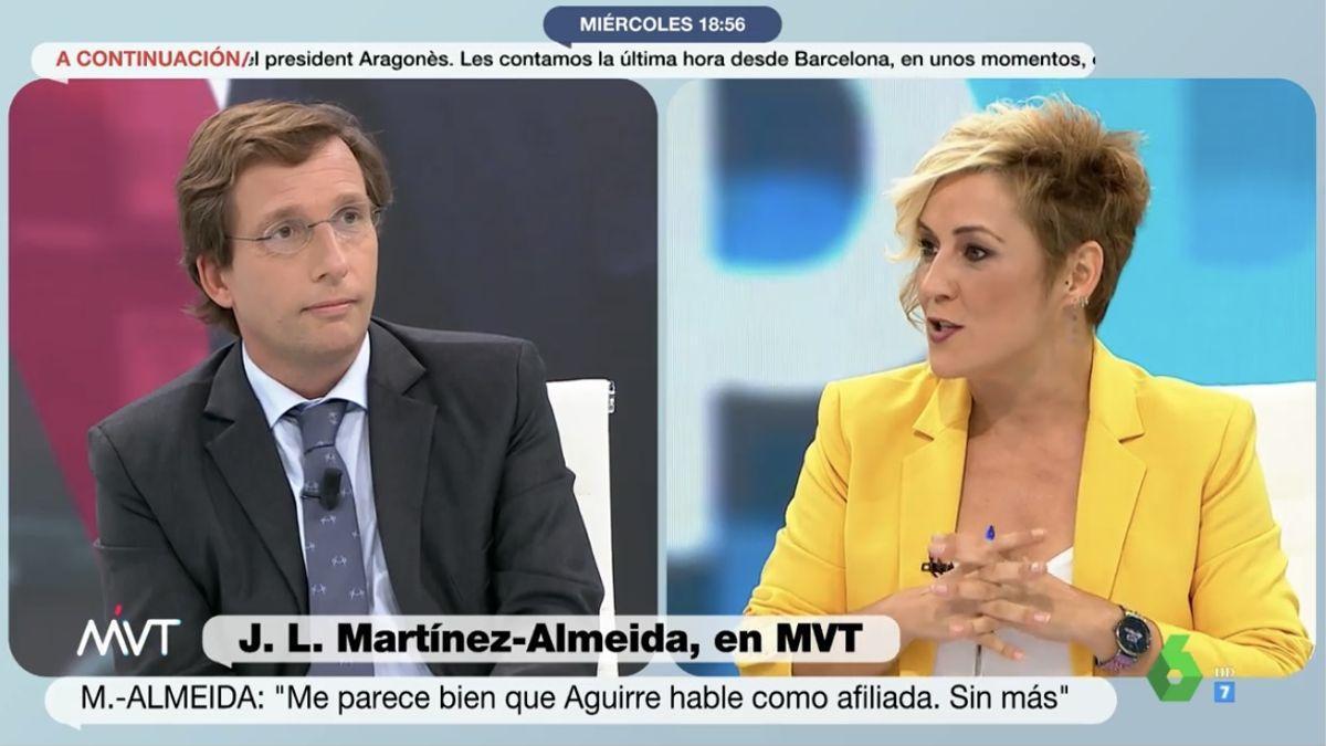José Luis Martínez Almeida y Cristina Pardo.