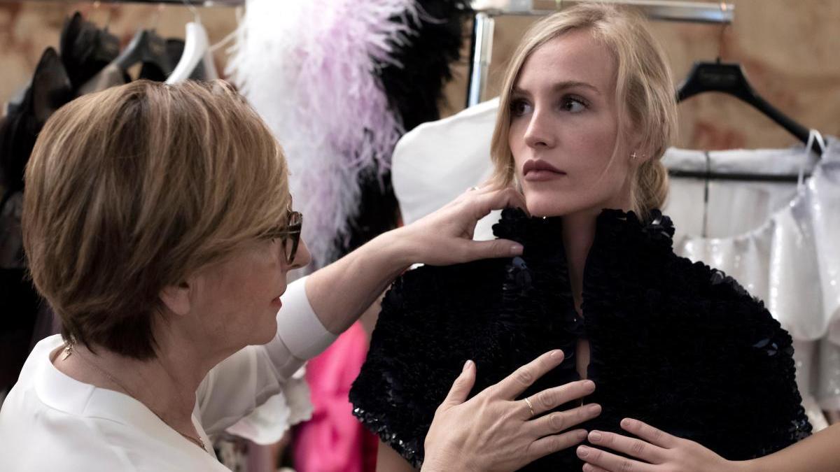 Isabel Sanchis, en la semana de la moda de París.