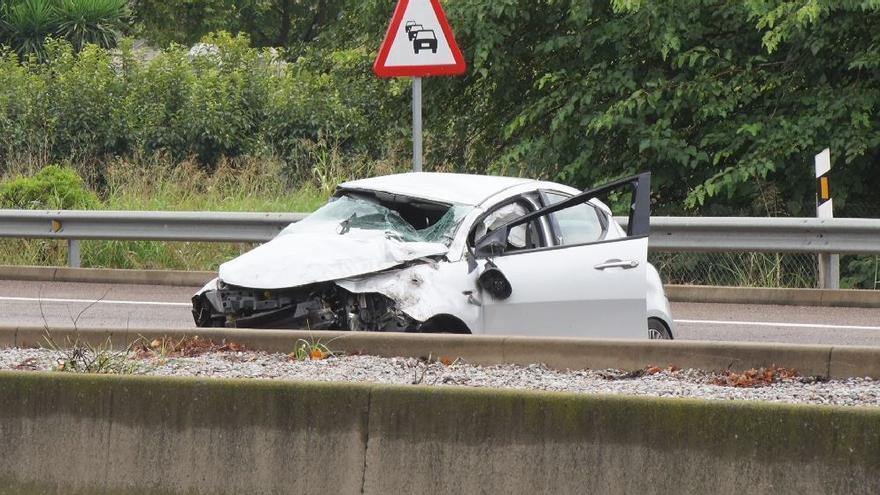 Accidente de tráfico en Valencia: colapsada la CV-36