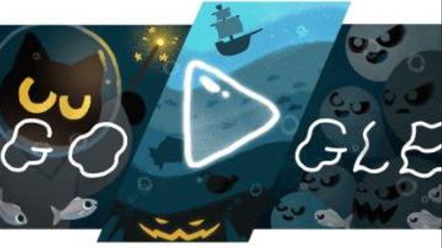 Google dedica su 'doodle' a Halloween de una manera muy especial