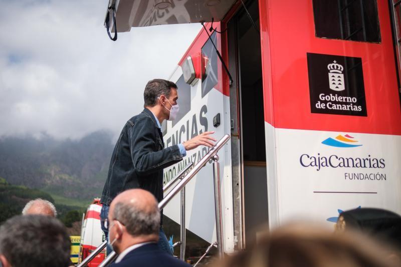 Visita del presidente Sánchez al Centro de Visitantes de la Caldera de Taburiente