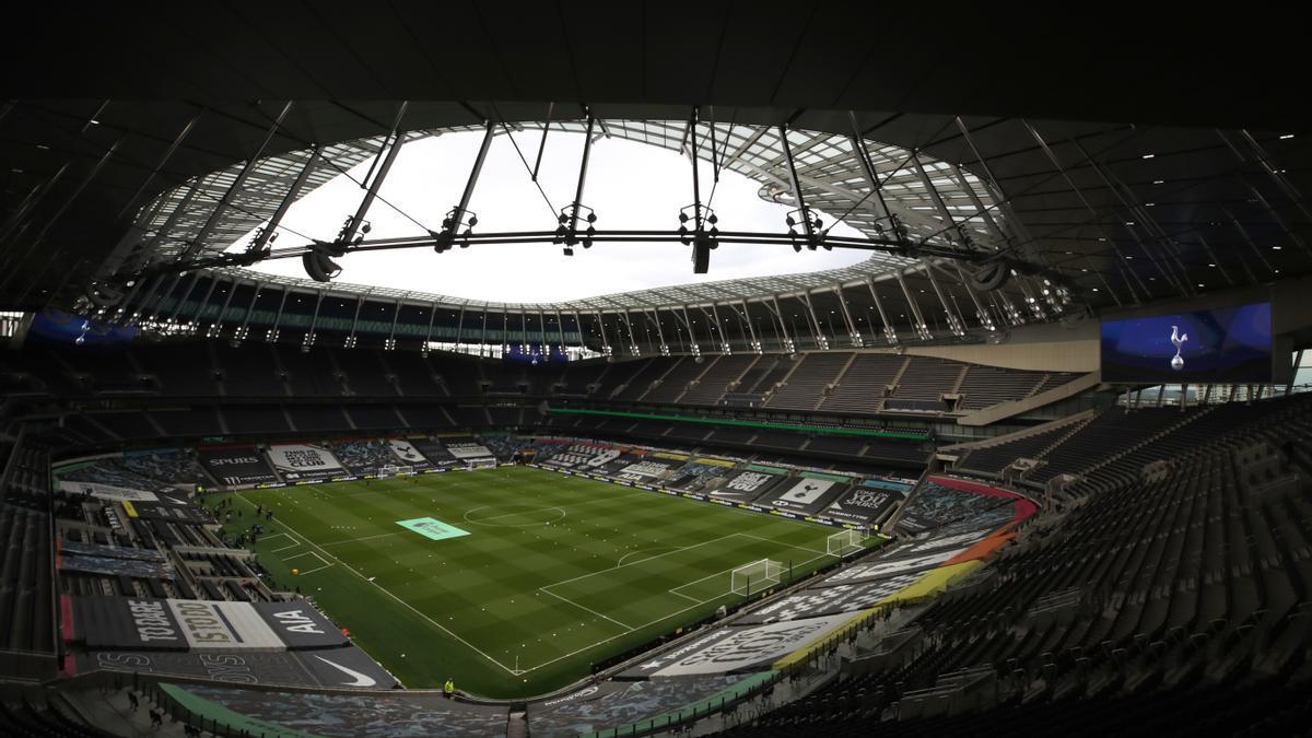 El estadio del Tottenham, vacío.