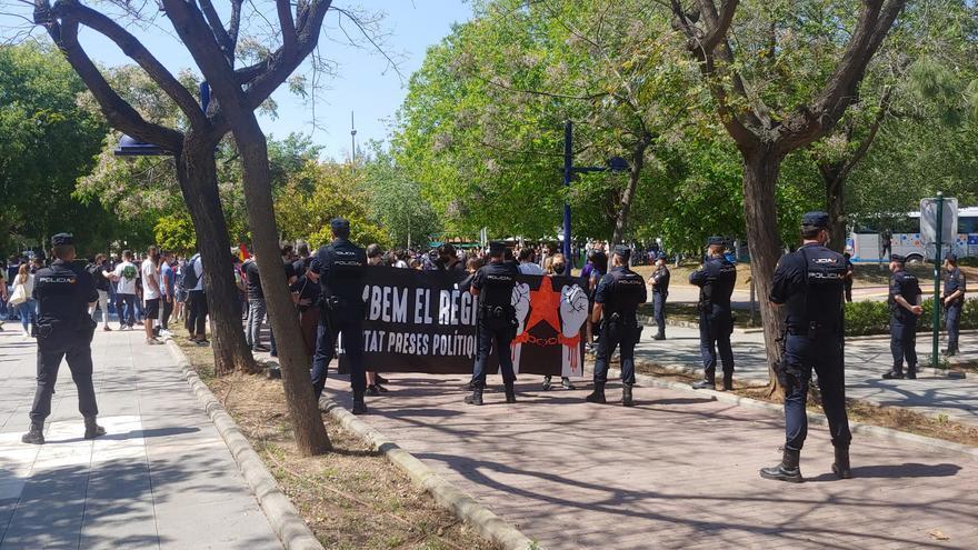 Protesta contra el rey Felipe VI.