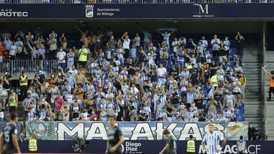 El Málaga CF inicia la liberación de aforo para nuevos abonados