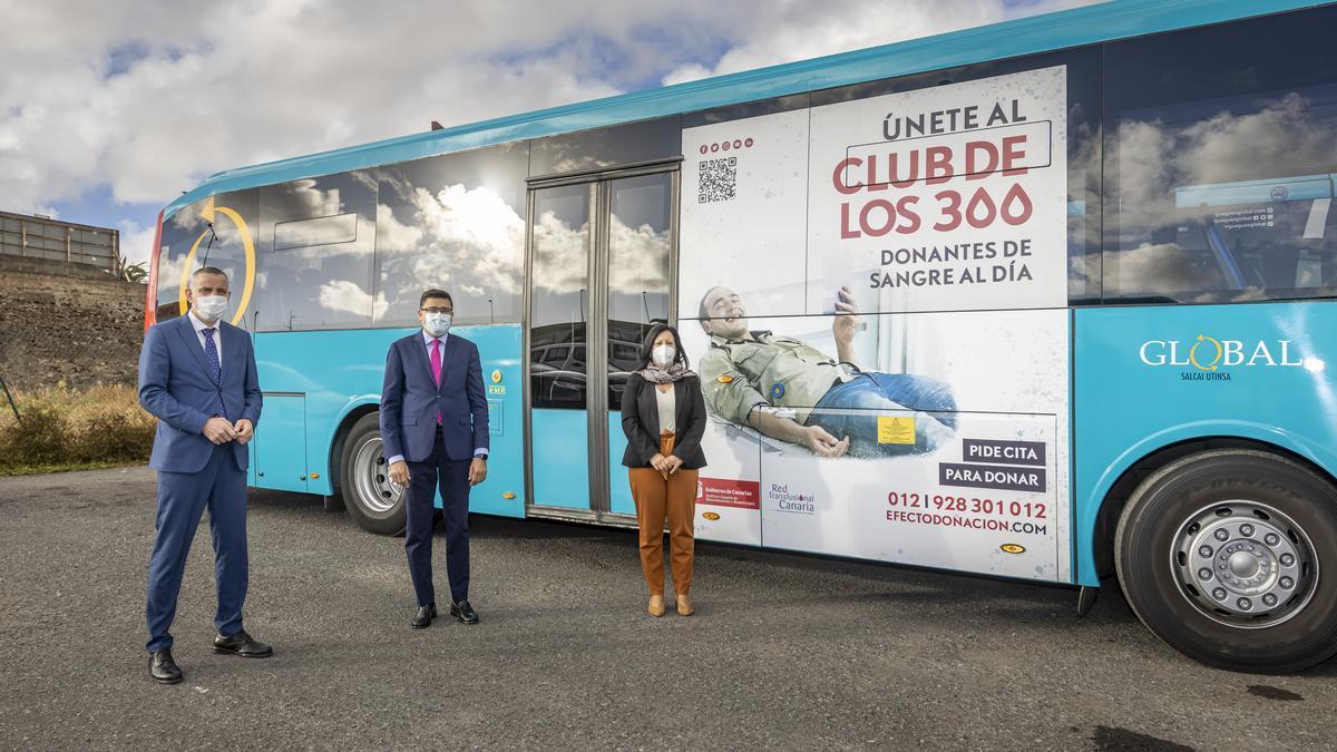 El ICHH, el Cabildo de Gran Canaria y la empresa Global se unen para promocionar la donación de sangre