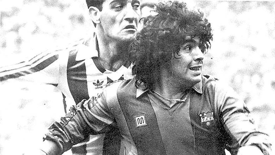 La crónica del día en el que Espinosa anuló a Maradona en El Molinón