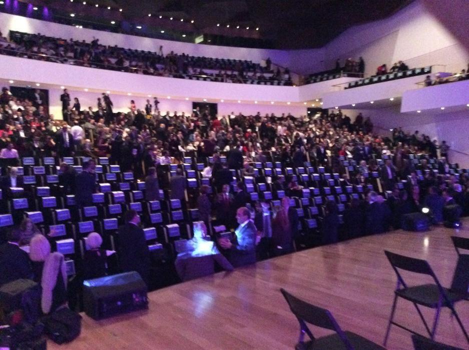 El auditorio del ADDA a la llegada del público.