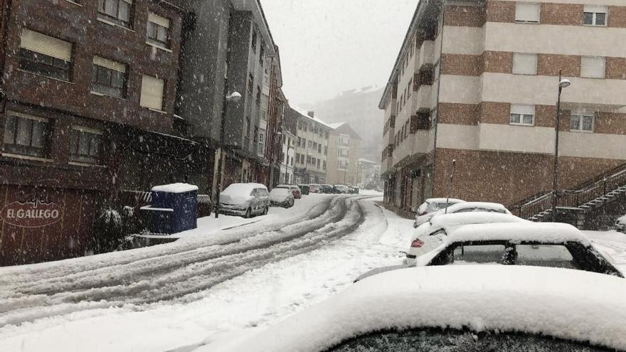 Nevada en el Suroccidente de Asturias