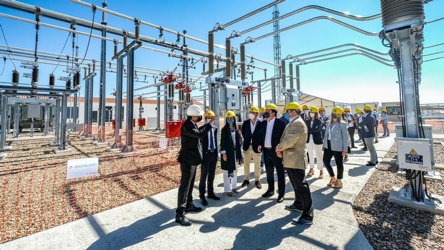 La subestación eléctrica Riocaya de Badajoz impulsa la plataforma logística