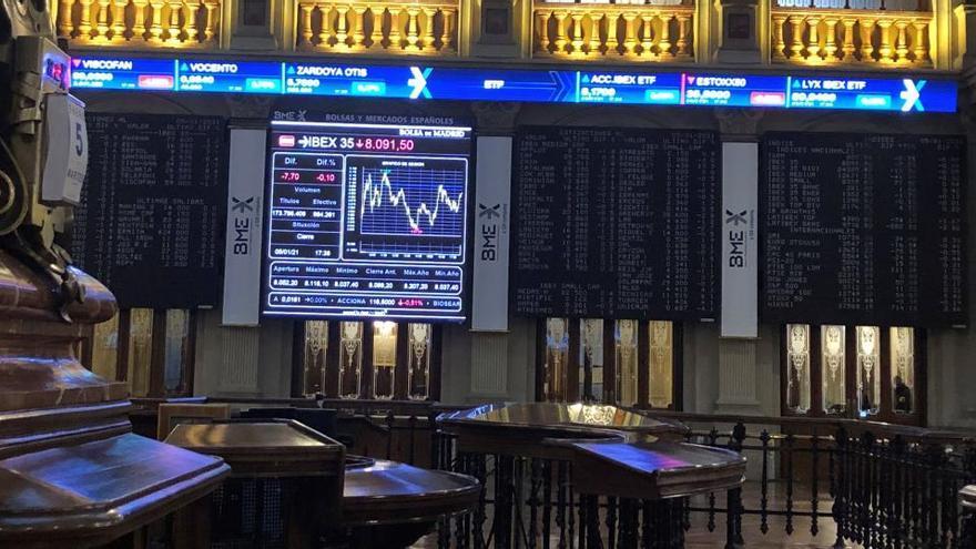 El Ibex 35 gana un 4,13% en la primera semana de 2021 y conquista los 8.400 enteros