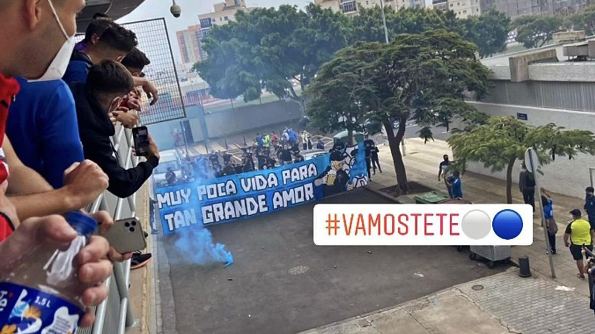 Captura de pantalla de instagram del recibimiento de ayer en el Heliodoro.     @JCCORDERO10