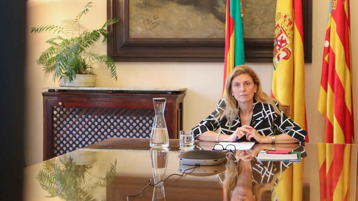 La alcaldesa en su participación en el Foro de las Ciudades 2021.
