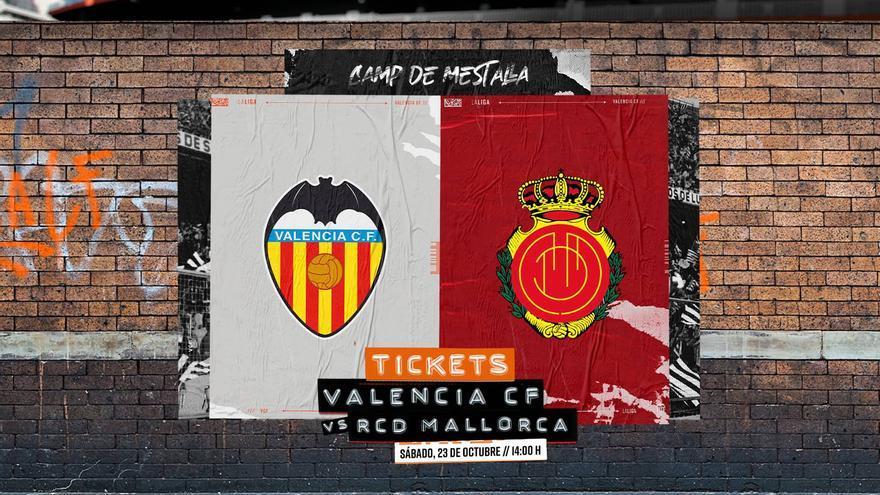 Ya están a la venta las entradas para el Valencia–Mallorca