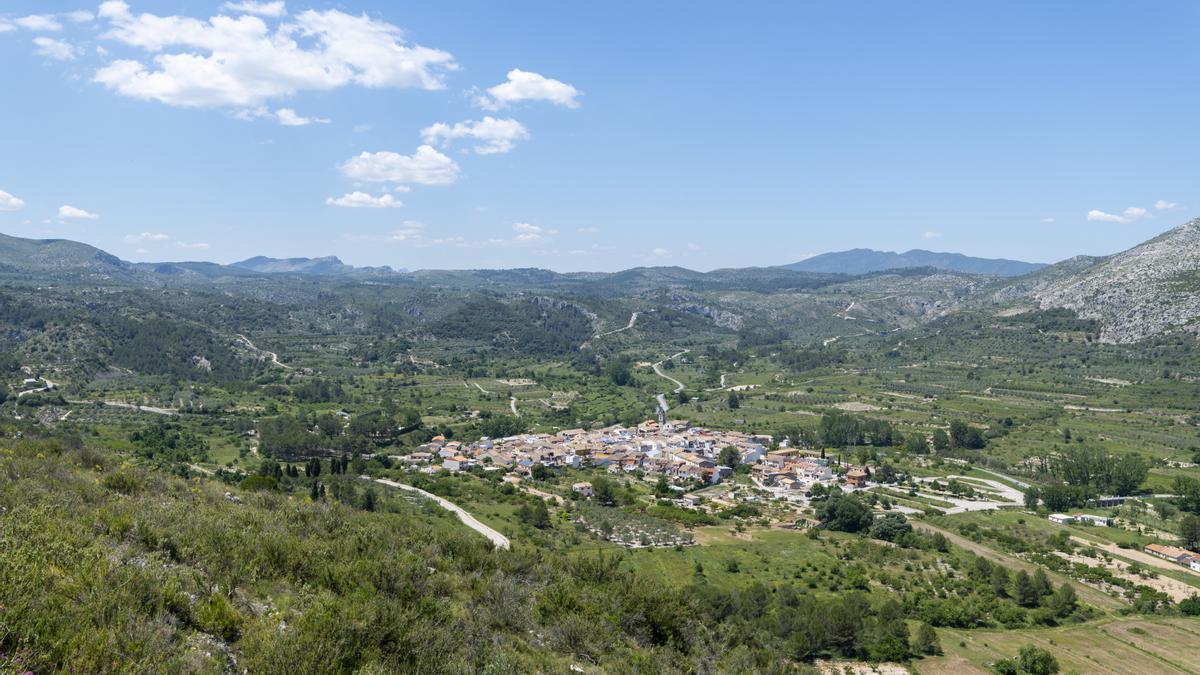 Vista aérea de la Vall d'Ebo