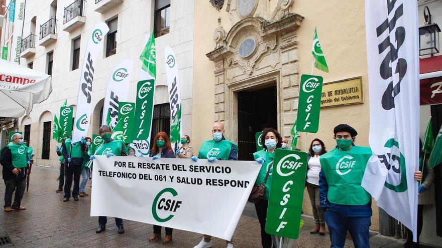 CSIF reclama en Córdoba el rescate público del servicio telefónico de 061 y Salud Responde