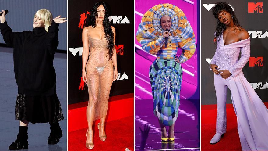 Los 'looks' más extremos de los premios MTV: del XL negro de Billie Eilish al no vestido de Megan Fox