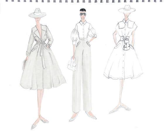 Un boceto de sus últimos diseños para Angel Schlesser.