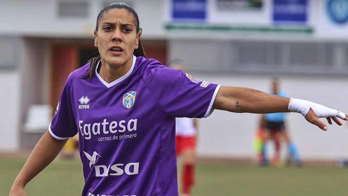 Cristina Martin-Prieto, durante el partido ante el Santa Teresa.