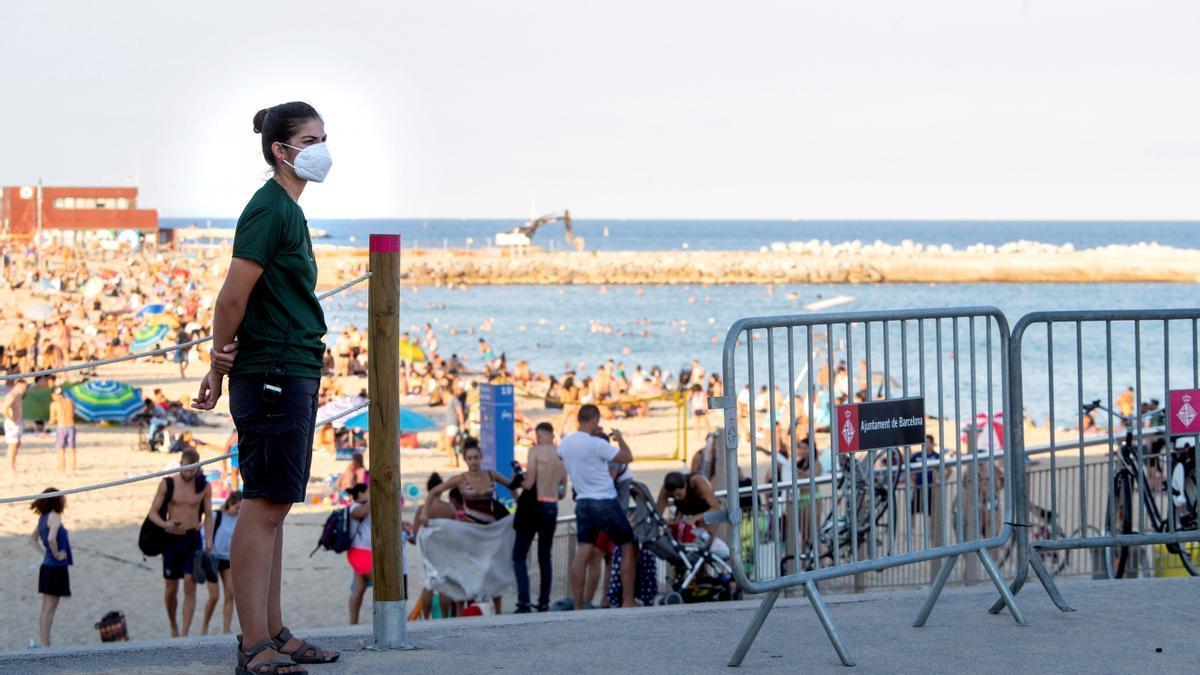 Una imagen de una playa de Barcelona.