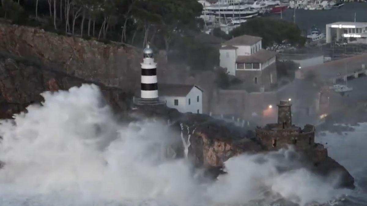 El tiempo en Mallorca: El vídeo con las mejores imágenes del temporal