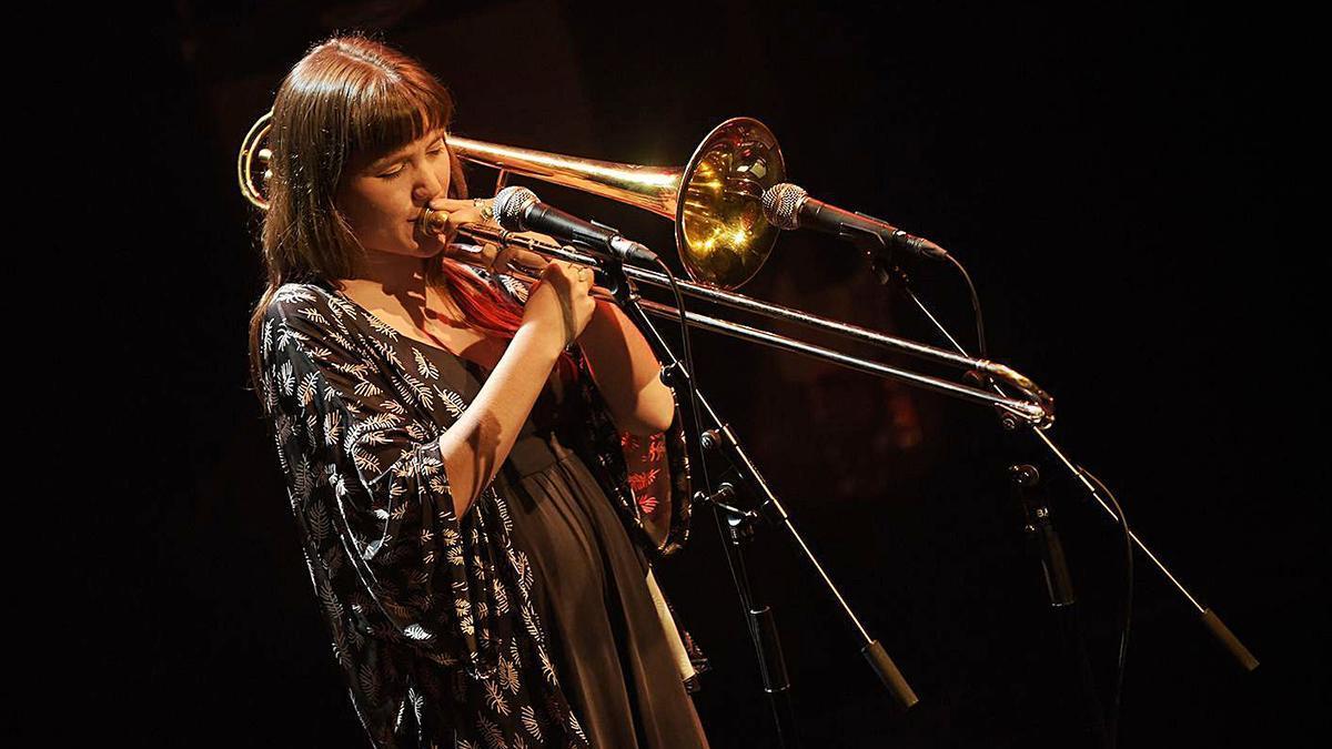 La trombonista Rita Payés al Festival de Jazz de Barcelona el passat mes d'abril.   JORDI CALVERA