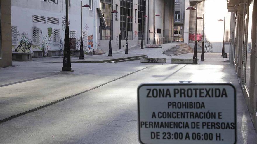 Primera noche sin botellones en Vigo tras la ofensiva del Concello