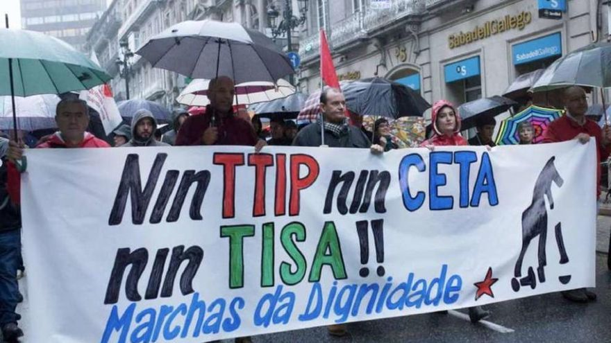 Centenares de gallegos contra los tratados de libre comercio