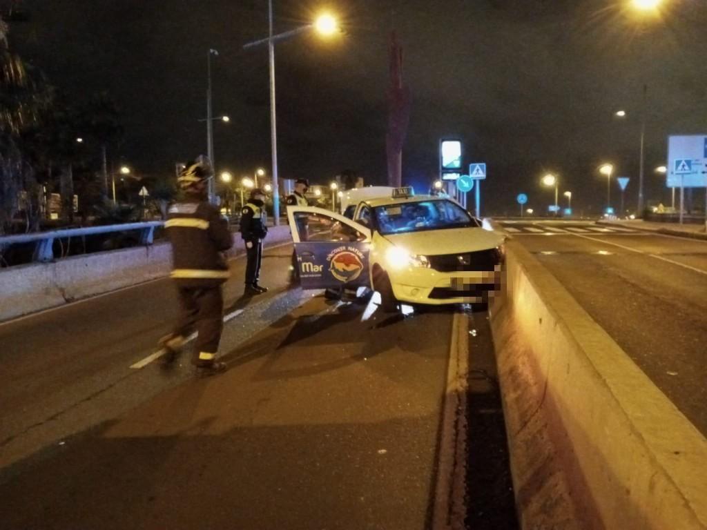 Aparatoso accidente en el viaducto de La Ballena (11(05/21)