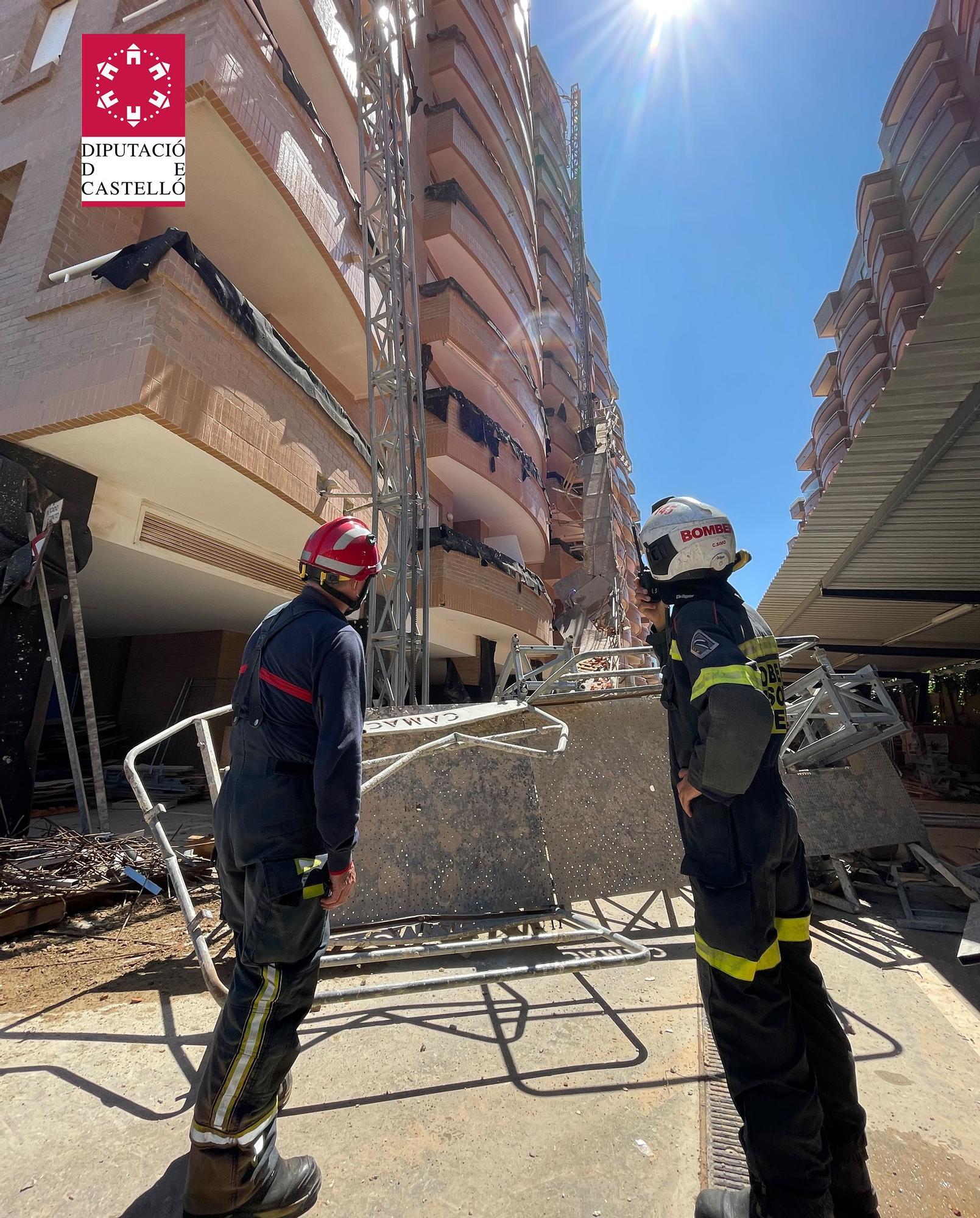 Varios operarios heridos tras derrumbarse un andamio en Orpesa