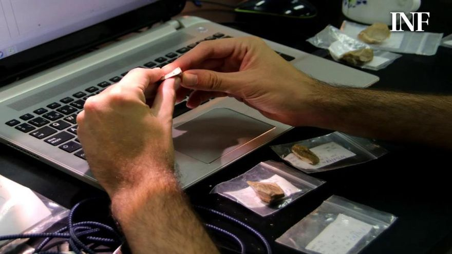 El origen de las herramientas halladas en El Salt de Alcoy