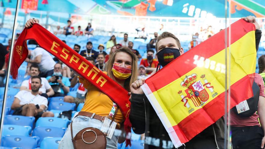 La afición celebra por todo lo alto el pase a semifinales de la Euro de la selección