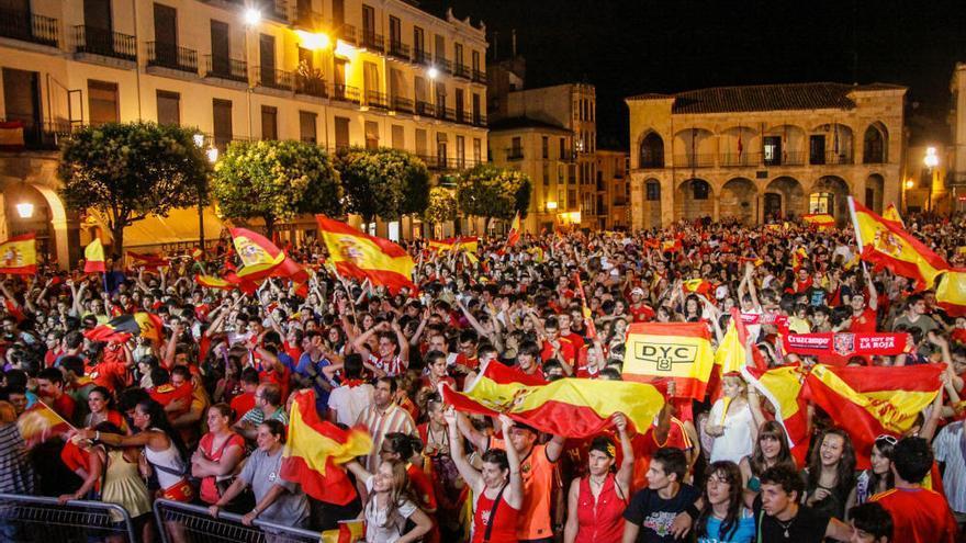 Así se vivió la final de España en el Mundial 2010 en Zamora