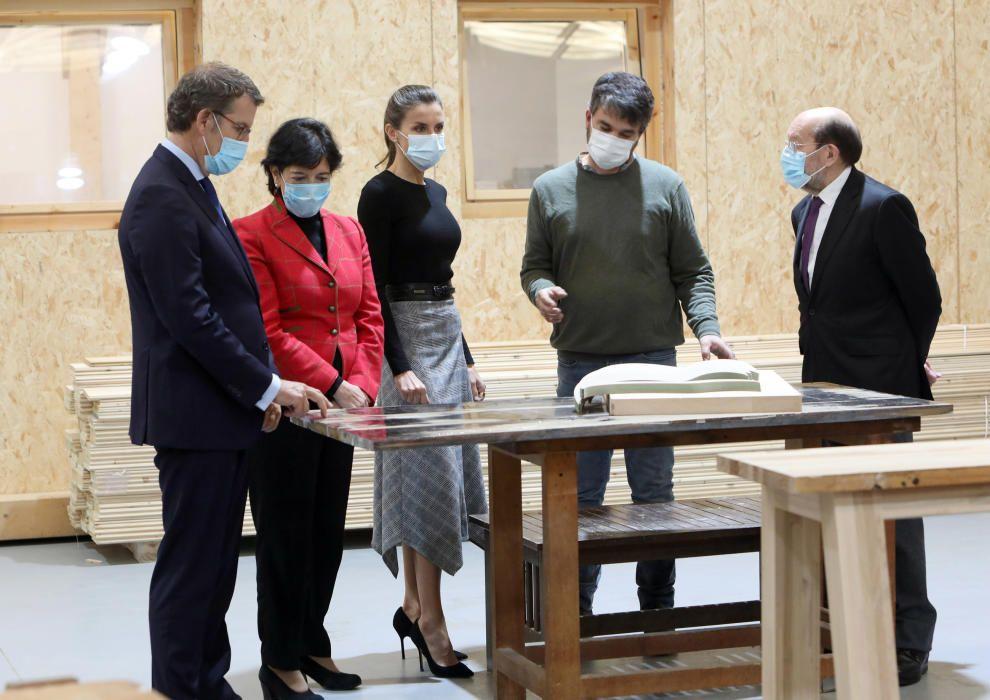 La reina inaugura en Galicia el curso en FP