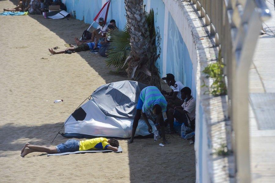Jueves Santo en playas de la capital grancanaria