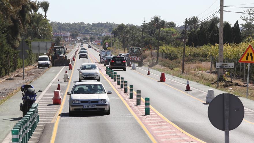 El Consell se da un año de plazo para acabar el primer tramo ilicitano del vial a Santa Pola