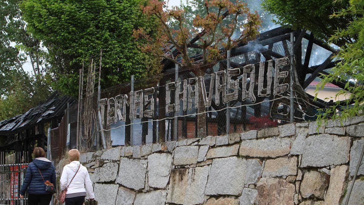 Incendio en las termas privadas de A Chavasqueira