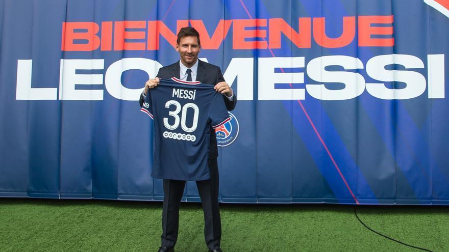 Messi llega a su primer entrenamiento con el PSG
