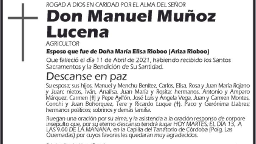 Manuel Muñoz Lucena