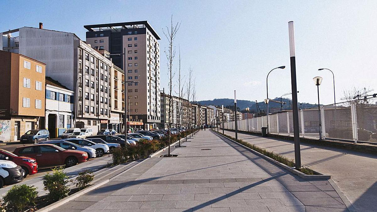 Avenida de Ourense, tras las obras. |   // FDV