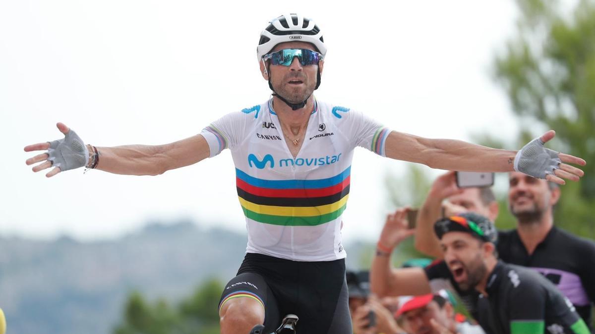 El ciclista español Alejandro Valverde, del Movistar Team.