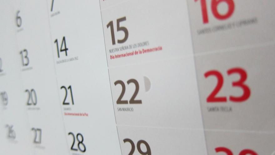 Calendario laboral de 2022: puentes y días festivos