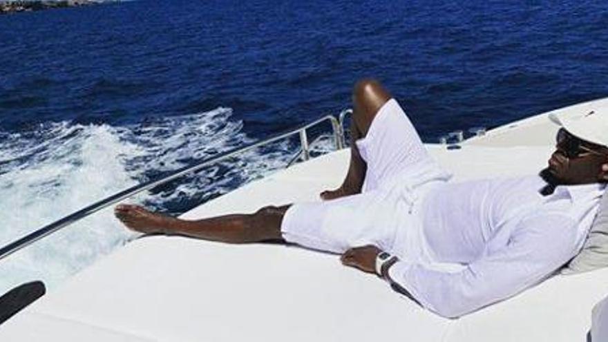 Usain Bolt descansa entre Ibiza y Formentera