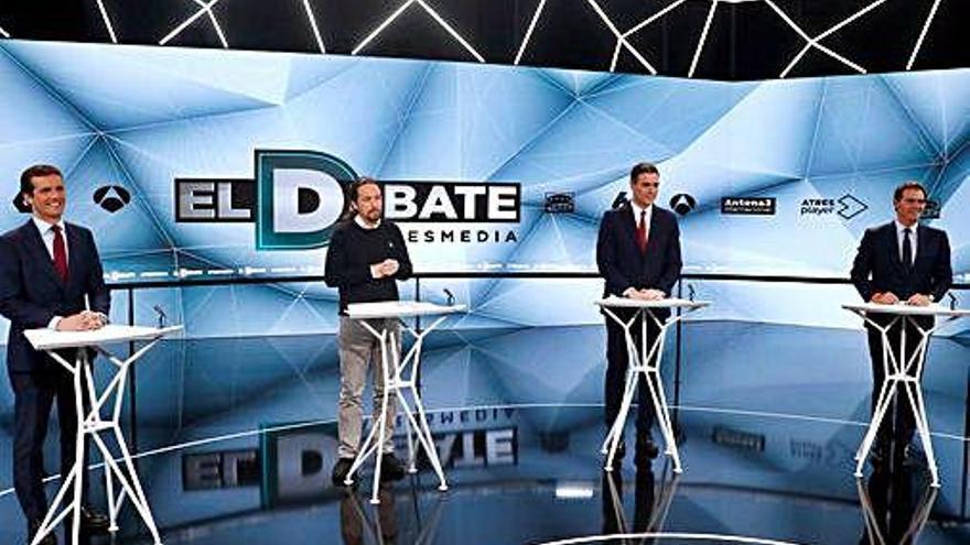 Los debates electorales de La 1 y Antena 3, lo más visto de abril