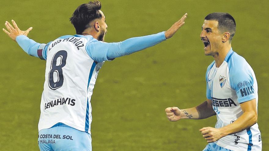 El Málaga CF, un equipo 'enchufado' y solo una baja ante el Mirandés