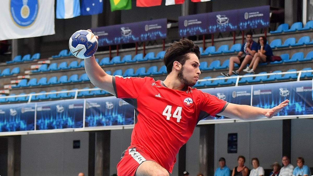 Aaron Codina, durante el pasado Mundial de balonmano.