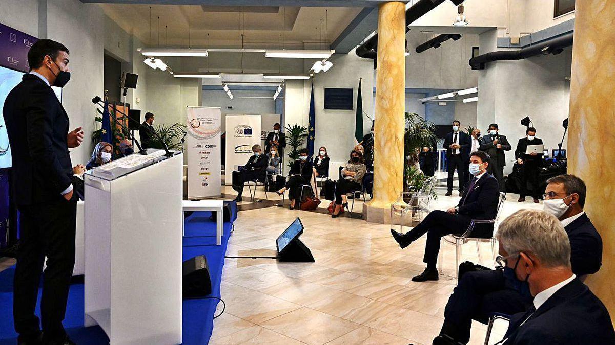 Intervención de Pedro Sánchez en Roma en el Foro de Diálogo Italia-España.