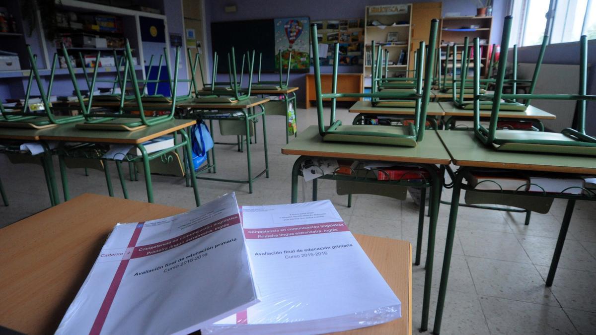 Una clase de un colegio de Galicia. / Iñaki Abella