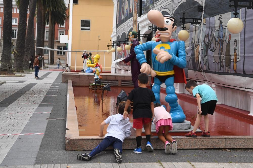 Héroes y villanos ya se instalan en la ciudad antes del Salón del Cómic