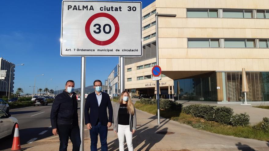 El límite de velocidad a 30 kilómetros por hora en nueve de cada diez calles de Palma entra en vigor el miércoles
